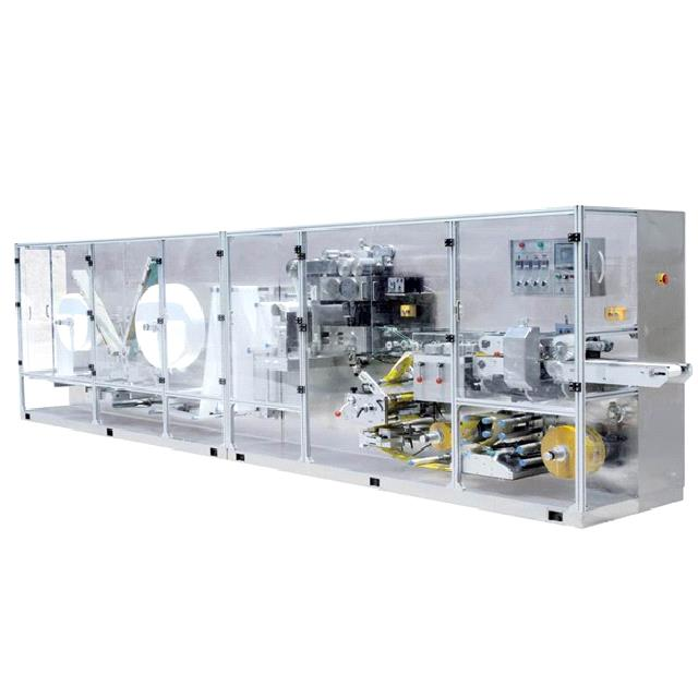 CD-251 FULL AUTOMATIC HIGH-SPEED SINGLE PIECE WET TISSUE MACHINE 200~250 PACKS MIN
