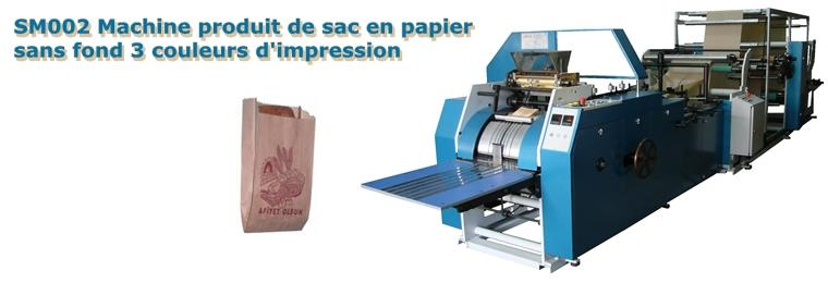 SM002 AUTOMATIC PAPER FOOD BAG MACHINE WITH 3 COLO