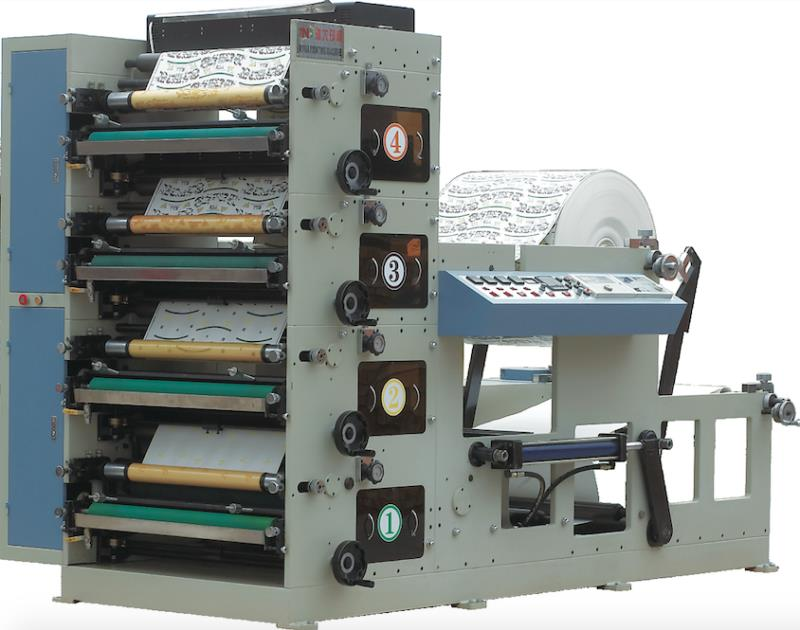 SE-850B FLEXO BASKI MAKİNESİ 4 RENK