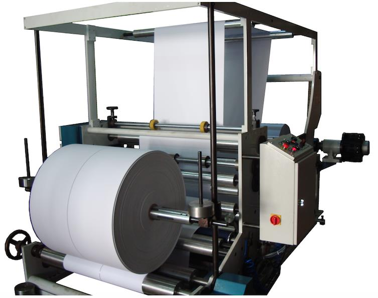 SM105 MACHINE DE TRANCHEUSES & BOBINEUSE PAPIER KRAFT 150 MT MUNITE