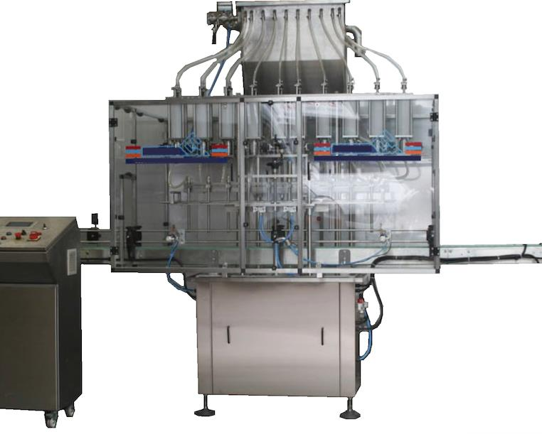 ODM-VW-8 (PVC) AUTOMATIC LINEAR TYPE WITH SPECIAL PVC CONSTRUCTION FREE FLOW 8 NOZZLES FILLING MACHINE