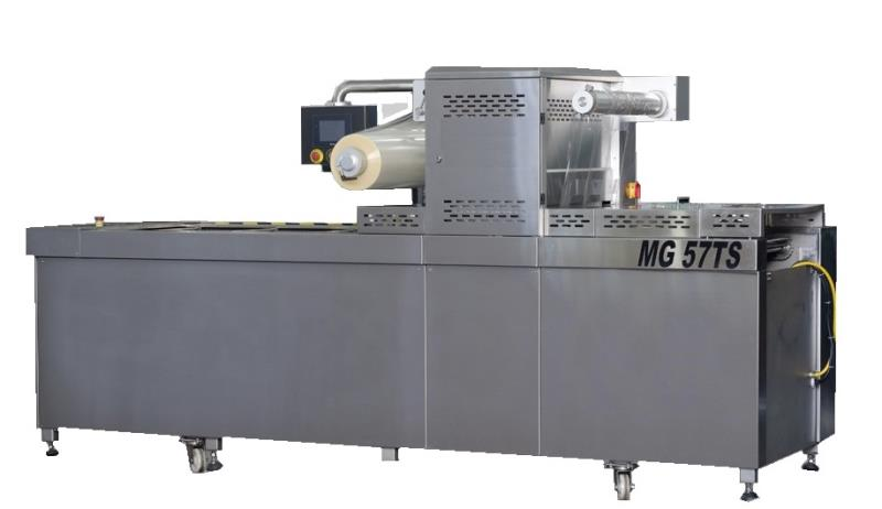 MG56TS TRAY SEALERS PACKAGING MACHINE WITH CHAIN AND VACUUM