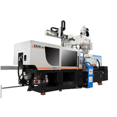 EKİN 160T PLASTIC INJECTION MOLDING MACHINE (SERVO SYSTEM) WITH ASSISTANT EQUIPMENTS