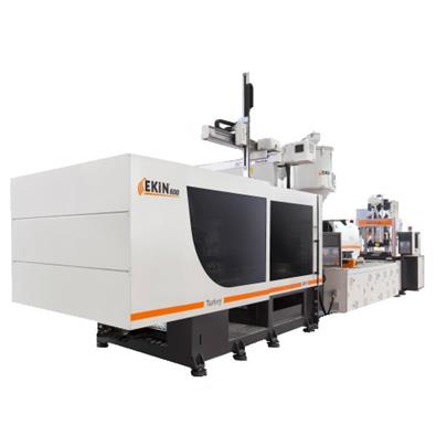 EKİN 600T PLASTIC INJECTION MOLDING MACHINE (SERVO SYSTEM) WITH ASSISTANT EQUIPMENTS