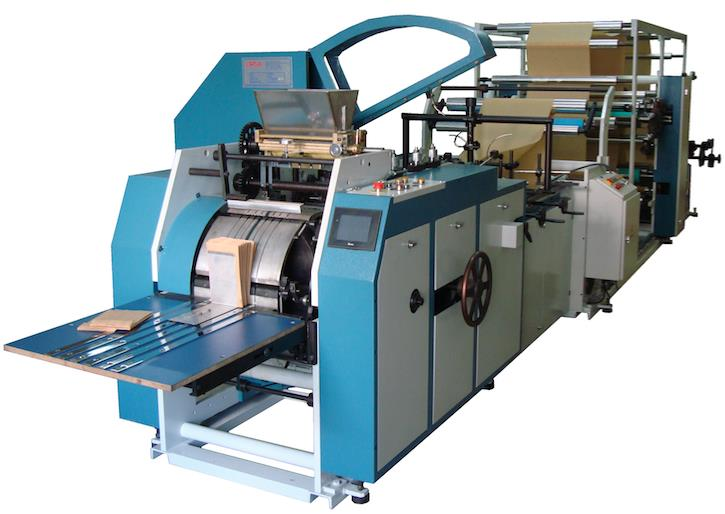 SM002 AUTOMATIC PAPER FOOD BAG MACHINE WITH 3 COLOURS FLEXO PRINTING