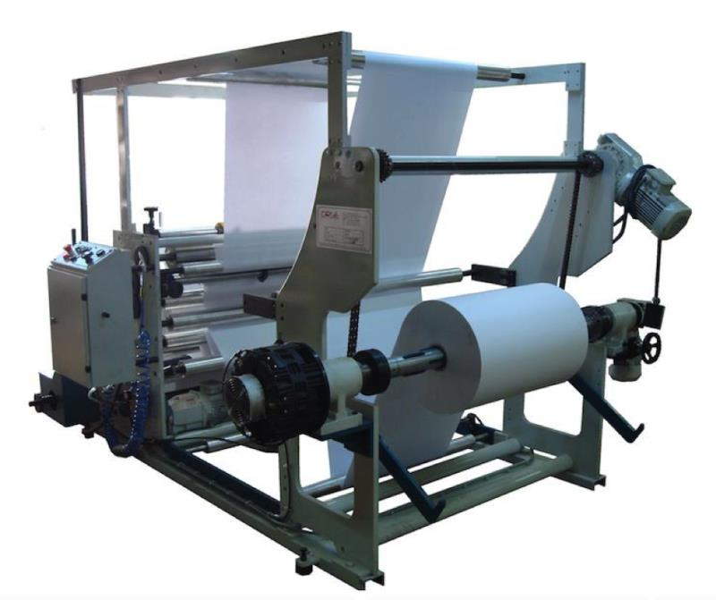 MACHINE DE TRANCHEUSES & BOBINEUSE PAPIER KRAFT 150 MT MUNITE