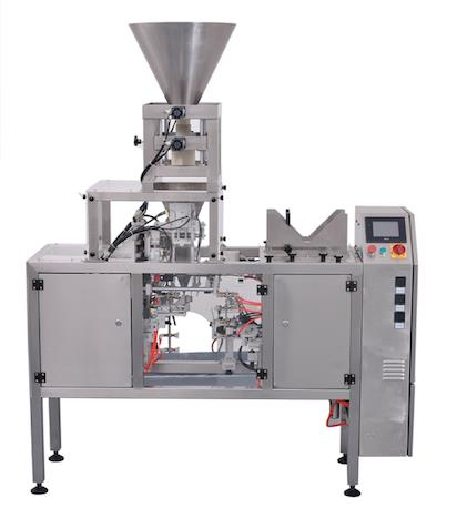 PL-MDP-S VOLUMETRIC CUP FILLER+MINI DOYPACK MACHINE PACKING LINE
