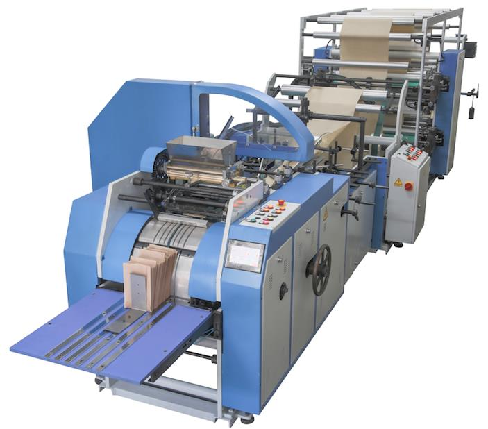 AUTOMATIC PAPER FOOD BAG MACHINE WITH 1 COLOURS FLEXO PRINTING