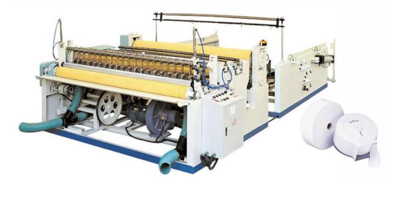 SM-J-200 JUMBO TOILET PAPER MACHINE (ENMOTION TOWEL MACHINE) WITH EDGE EMBOSSING AND LAMINATION